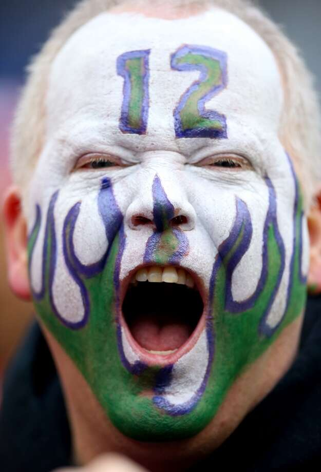 A Seattle fan shows his support for the Seahawks before the NFC Championship game against the 49ers. Photo: Ronald Martinez, Getty Images