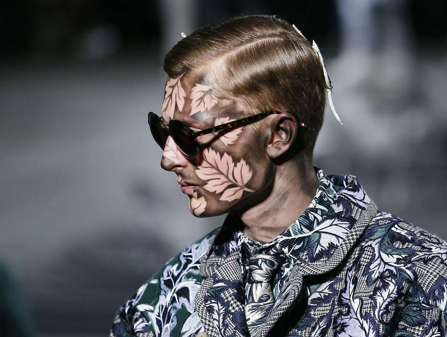 He must be an 'autumn':A model presents a creation by American designer Thom Browne during the Fall/Winter   2014/2015 men's fashion show in Paris. Photo: Patrick Kovarik, AFP/Getty Images