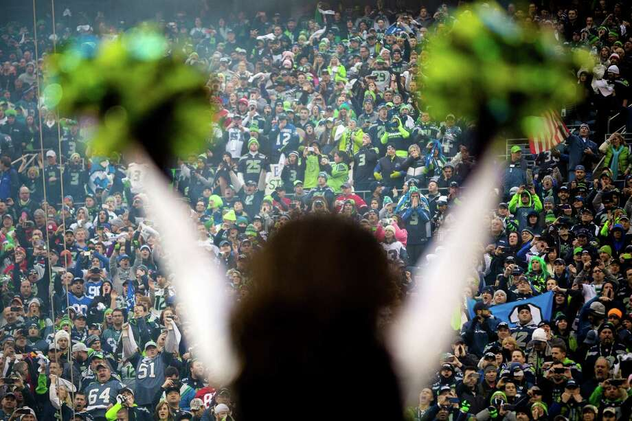 Seahawks fans cheer from the south end of the stadium during the first half of the NFC Championship game Sunday, Jan. 19, 2014, at CenturyLink Field in Seattle. Photo: JORDAN STEAD, SEATTLEPI.COM / SEATTLEPI.COM