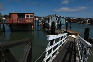 Main Dock, Waldo Point Harbor, Sausalito. Otis Redding was inspired to write '(Sittin' on) the Dock of the Bay' while holed up in a houseboat here.