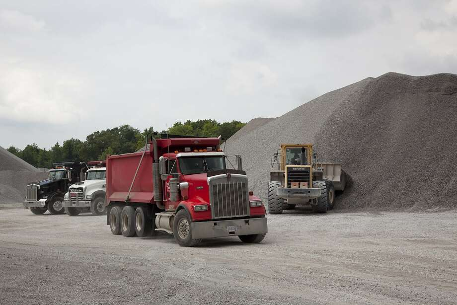 View of the trucks in the Vulcan Materials Company limestone quarry in Tuscumbia, Alabama in 2010. Gordon Tillman claimed he suffered racial abuse working at a quarry at Vulcan's CalMat subsidiary in Livermore. Photo: Buyenlarge/Getty Images, Carol M. Highsmith