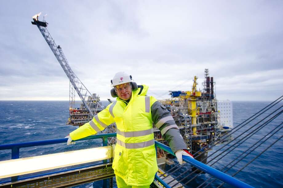 Arne Sigve Nylund, vice president for development and production in Norway for Statoil ASA, pauses during a tour of the Oseberg A offshore gas platform, operated by Statoil, in the North Sea 140 kilometers  (87 miles) from Bergen, Norway, on Friday, Jan. 17, 2014. Photo: Kristian Helgesen, Bloomberg