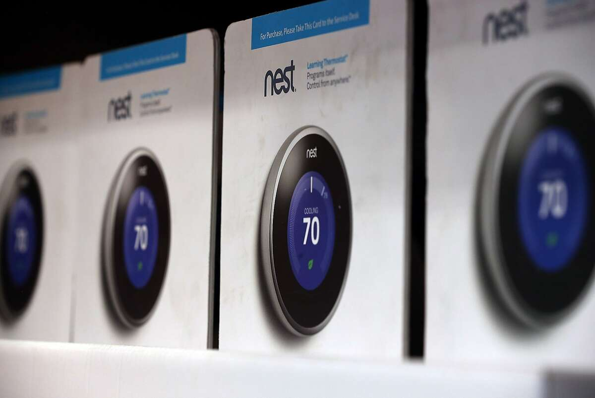 SAN RAFAEL, CA - JANUARY 13: The Nest Learning Thermostat is displayed at a Home Depot store on January 13, 2014 in San Rafael, California. Google announced today that it has acquired Palo Alto, Calif. based digital smoke alarm and thermostat company Nest for $3.2 billion in cash. (Photo by Justin Sullivan/Getty Images)