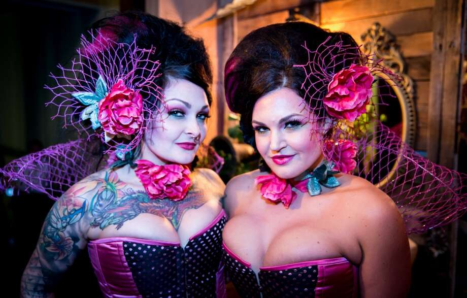 Costumed guests were dressed to the nines at the 2014 Edwardian Ball on Jan. 17-18 at the Regency Ballroom in San Francisco. (Photo by Pete Lockwood) Photo: Pete Lockwood