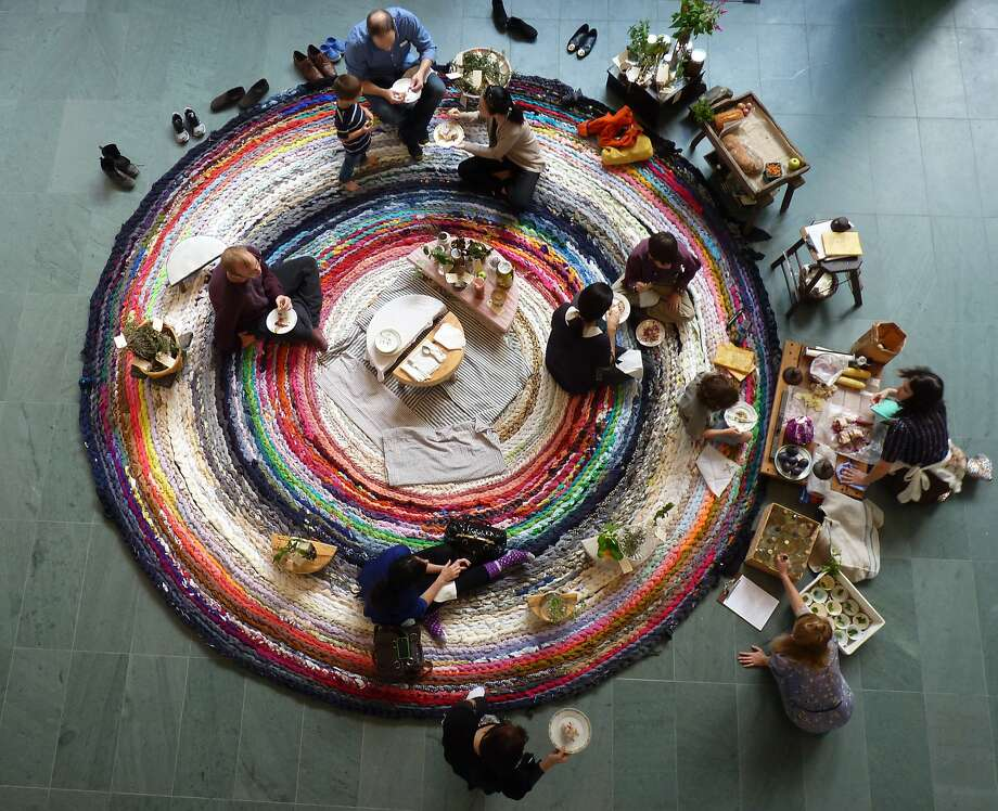 "Fritz Haeg's ""Domestic Integrities, Part I"" will expand to include donated crocheted fabric. Photo: Berkeley Art Museum"