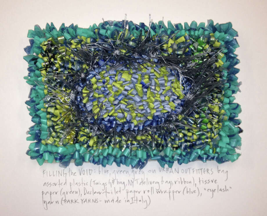 Mixed paper and plastic on woven plastic by New Canaan artist Constance Old is on exhibit Jan. 25 and 26 in Art Show Bedford, an annual event drawing artists from Fairfield and Westchester counties. Photo: Contributed Photo, Contributed / New Canaan News Contributed