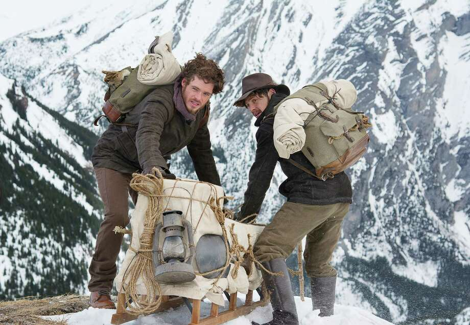 Bill Haskell (Richard Madden) (left) and Byron Epstein (Augustus Prew) on Chilkoot Pass.(Discovery Channel/Dan Power)