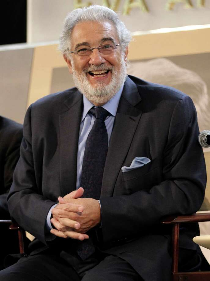 Placido Domingo laughs while attending the LA Opera celebration in his honor at the Dorothy Chandler Pavilion on Wednesday, Sept. 5, 2012, in Los Angeles. (Photo by Matt Sayles/Invision/AP) Photo: Matt Sayles / Invision