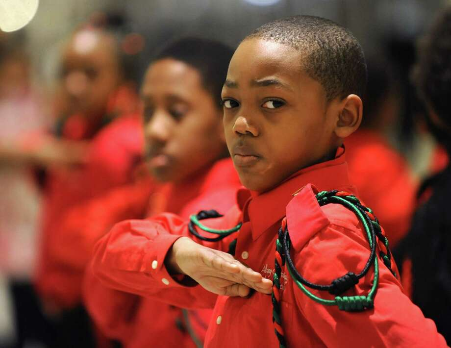Kaki Lumpin, 11, of Albany performs during the Martin Luther King memorial observance at the Empire State Plaza on Monday, Jan. 20, 2014 in Albany, N.Y.  (Lori Van Buren / Times Union Photo: Lori Van Buren / 00025409A