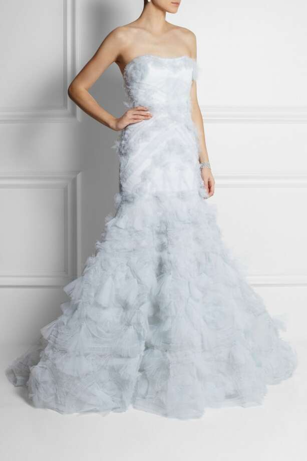 Marchesa Strapless Textured-Tulle Gown, $8,950