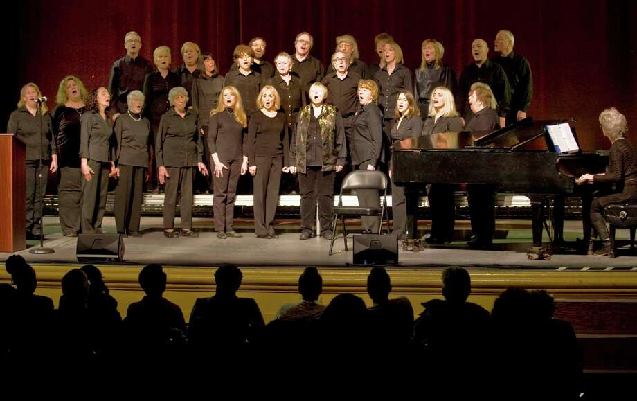 Members of the Ridgefield Chorale perform at the Martin Luther King Day celebration in the Ridgefield Playhouse. Monday, Jan. 20, 2014 Photo: Scott Mullin / The News-Times Freelance