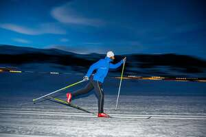 Paul Bragiel is seen cross country skiing.