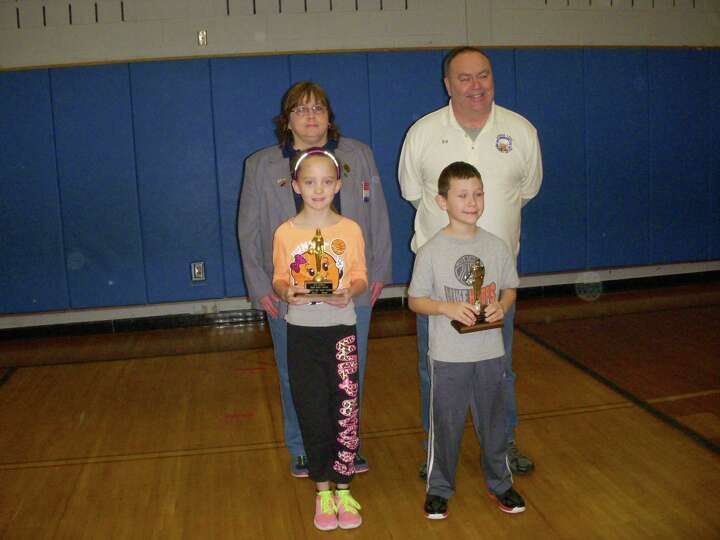 Alexis Marie Cornwell won first place for girls ages 8 and 9 in the Elks Hoop Shoot presented on Jan