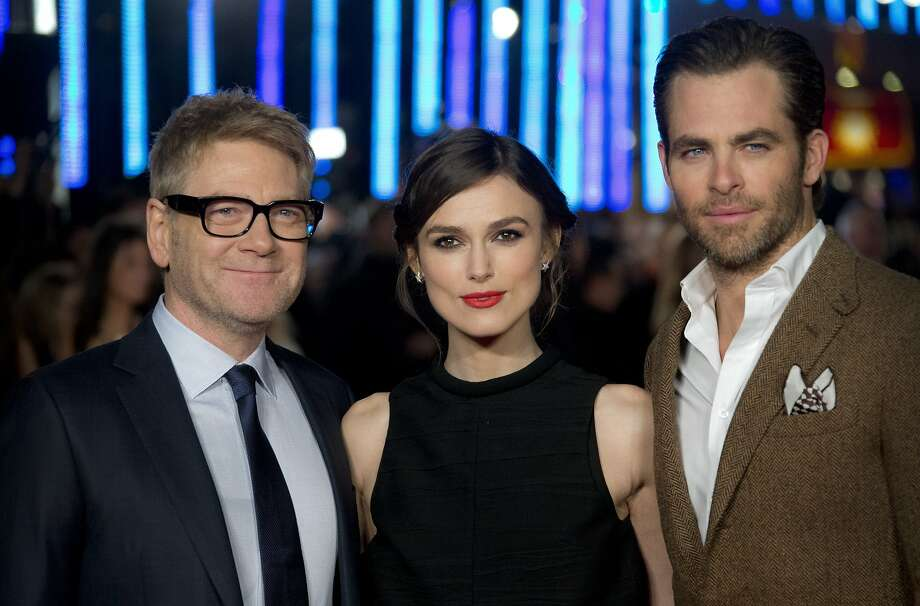 "Kenneth Branagh (left) at the London premiere of ""Jack Ryan: Shadow Recruit,"" with stars Keira Knightley and Chris Pine. Photo: Joel Ryan, Associated Press"