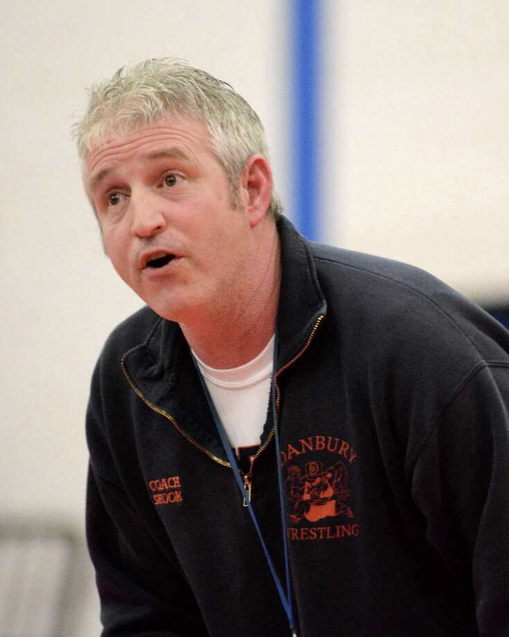 Danbury High School wrestling head coach Ricky Shook at Danbury High School on Monday Jan. 20, 2014. Photo: Lisa Weir / The News-Times Freelance