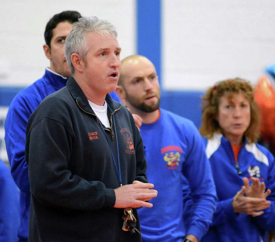 Danbury High Schools wrestling head coach Ricky Shook at Danbury High School on Monday Jan. 20, 2014. Photo: Lisa Weir / The News-Times Freelance