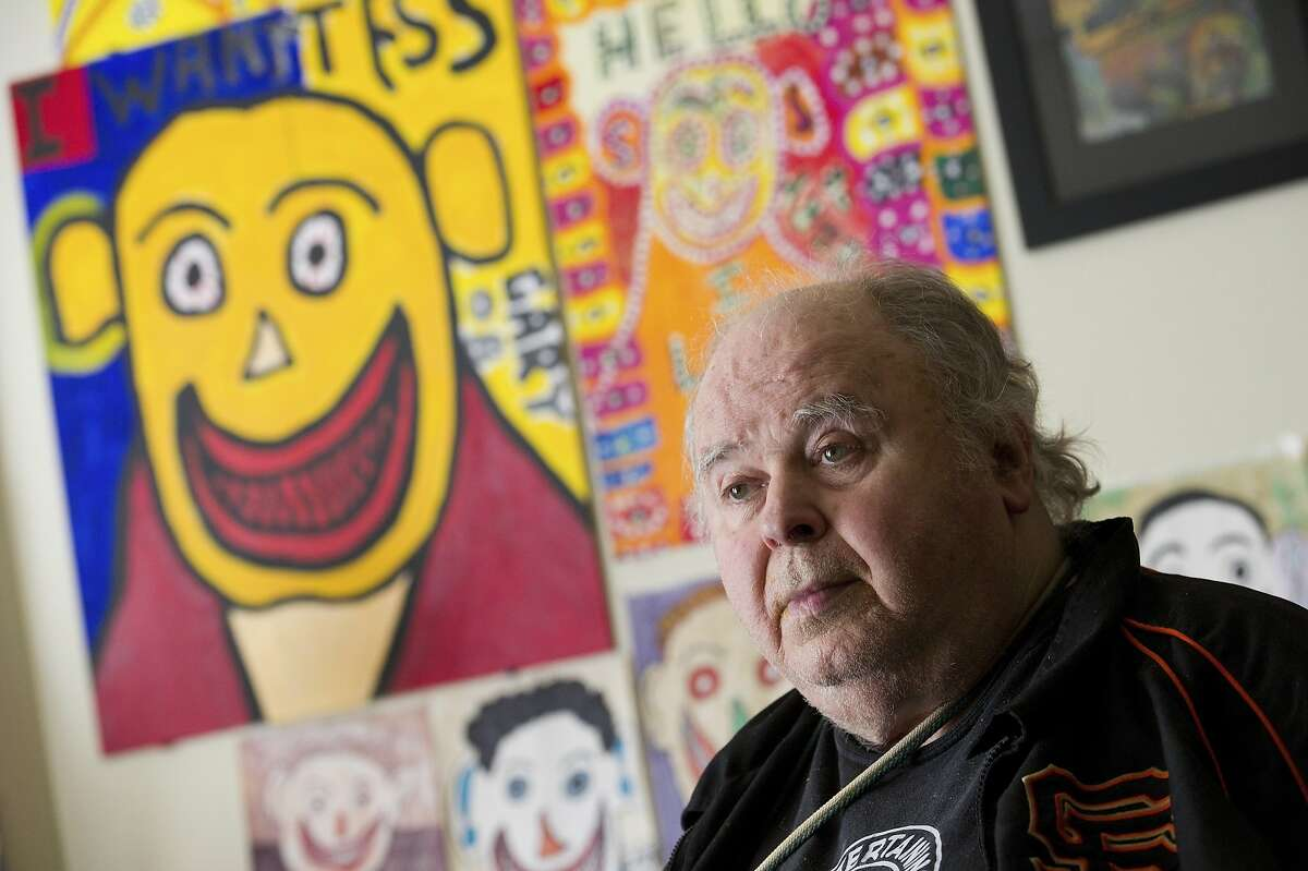 Artist Gary Arlington sits for a photograph in his home on January 21, 2012 in San Francisco, Calif.