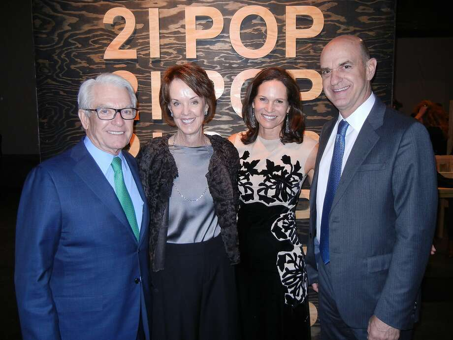 SFMOMA board Chairman Charles Schwab (left), his wife, Helen Schwab, Randi Fisher and her husband, Bob Fisher, president of the SFMOMA board. Photo: Catherine Bigelow, Special To The Chronicle