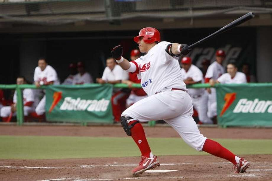 8. Japhet Amador, a former Mexican League star, will cast a huge shadow this spring. The 6-4, 315-pound slugger was one of the top sluggers south of the border, and he'll be hard to missed. He hit 36 home runs in Mexico last year, earning a contract from Jeff Luhnow. Photo: Jam Media, Getty Images