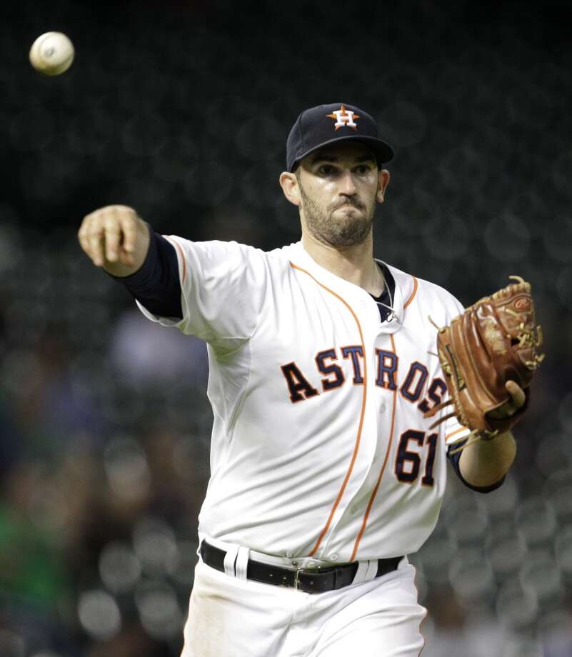 25. Josh Zeid and Josh Fields were two of the brightest spots on an otherwise disastrous bullpen after the All-Star break. Now, they must fight for their places in the revamped bullpen. Photo: Melissa Phillip, Houston Chronicle