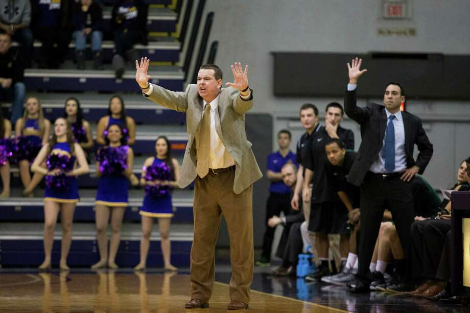 Binghampton's head coach Tommy Dempsey calls out from the sideline during the UAlbany mens' basketball game at SEFCU Arena, Monday, Jan. 20, 2014 in Albany, N.Y. (Dan Little / special to the Times Union) Photo: Dan Little / Dan Little/ Times Union