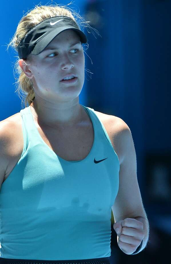 Eugenie Bouchard is the first Canadian to reach the Australian Open semifinals. Photo: Paul Crock, AFP/Getty Images