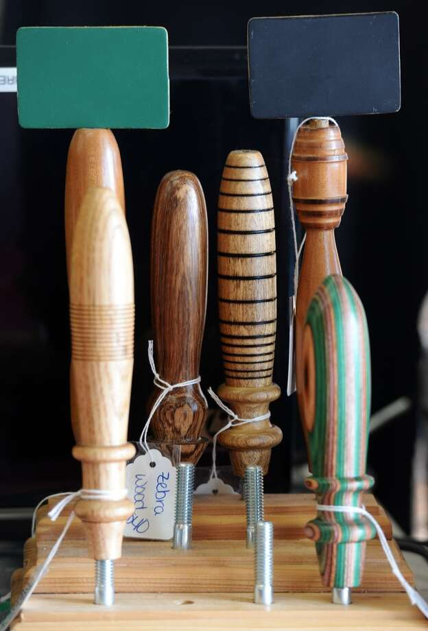 Taps for sale at the Brew Shop sit on the shop's counter Tuesday afternoon. The Brew Shop in Beaumont caters to home brewers and wine fermenters.  Photo taken Tuesday, 1/7/14 Jake Daniels/@JakeD_in_SETX