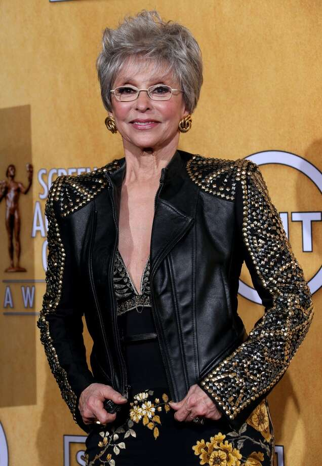 Actress Rita Moreno made a splash over the weekend when she showed up to the Screen Actors Guild Awards in a killer leather jacket. Moreno was given a lifetime achievement award as part of the program. Take a look at these other ladies who have rocked the leather look over the years. Photo: Dan MacMedan, WireImage
