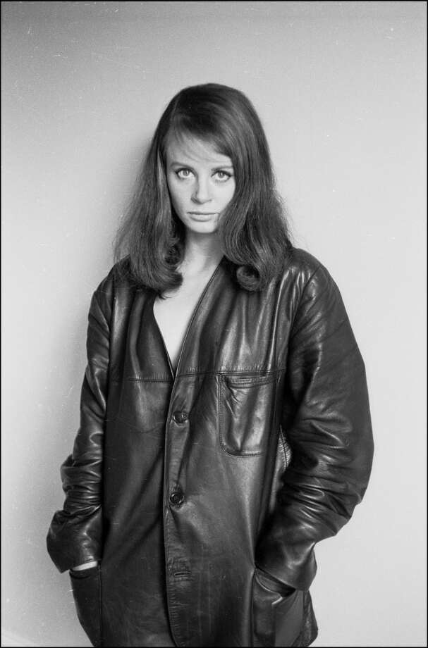 Actress Sarah Miles posing in a leather jacket, 1963. Photo: Michael Ward, Getty Images