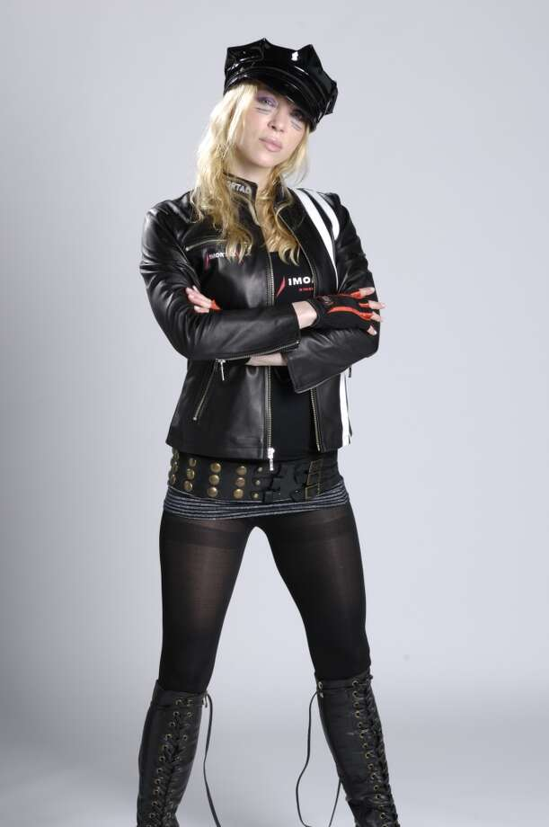 Angela Gossow of Swedish melodic death metal band Arch Enemy, 2008. Photo: Metal Hammer Magazine