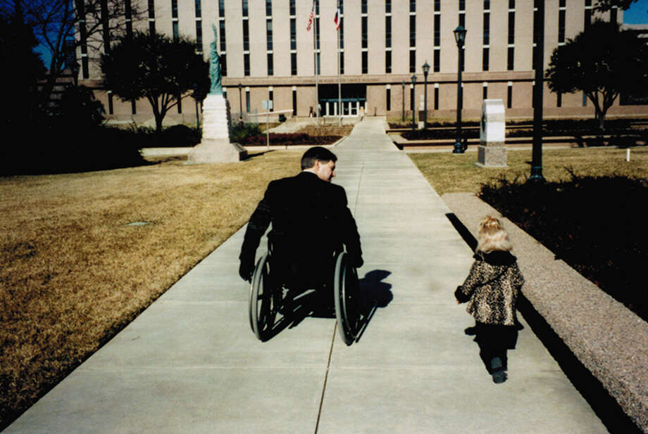 Greg Abbott and daughter Audrey at the Texas Capitol. Photo: Greg Abbott, Courtesy
