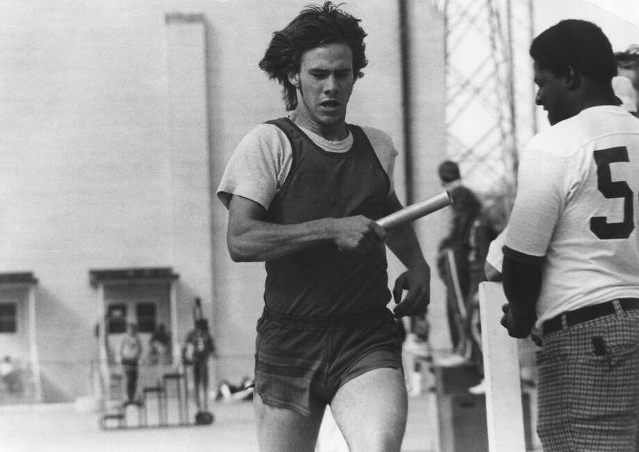 Abbott ran on his Duncanville high school's track and field team.  Photo: Greg Abbott, Courtesy