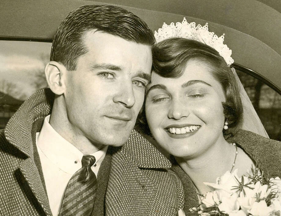 Martin and Lorraine Ryan bond on their wedding day, Jan. 31, 1954.  Courtesy of the Ryan family Photo: Contributed Photo / The News-Times Contributed