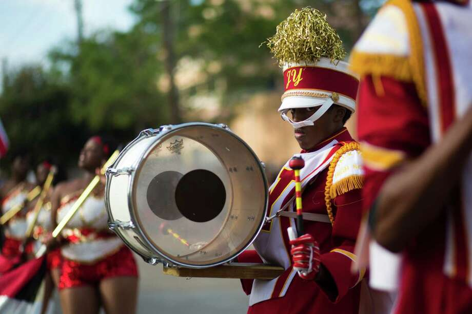 The Jack Yates Marching Band showcases their musical abilities during the 20th Annual MLK Grande Parade, Monday, Jan. 20, 2014, in Houston. Photo: Marie D. De Jesus, Houston Chronicle / © 2014 Houston Chronicle