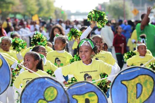 "Kipp Zenith Academy dancers perform during the ""Original"" 36th annual Dr. Martin Luther King, Jr. Birthday Parade, Monday, January 20, 2014 in Houston, Texas. Photo: Johnny Hanson/Houston Chronicle"