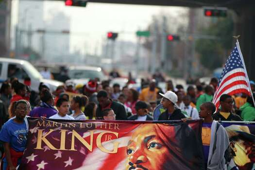 "The ""Original"" 36th annual Dr. Martin Luther King, Jr. birthday parade is one of two parades that will honor the civil rights leader today near Minute Maid Park, in Houston, Tx. Photo: Johnny Hanson/Houston Chronicle"