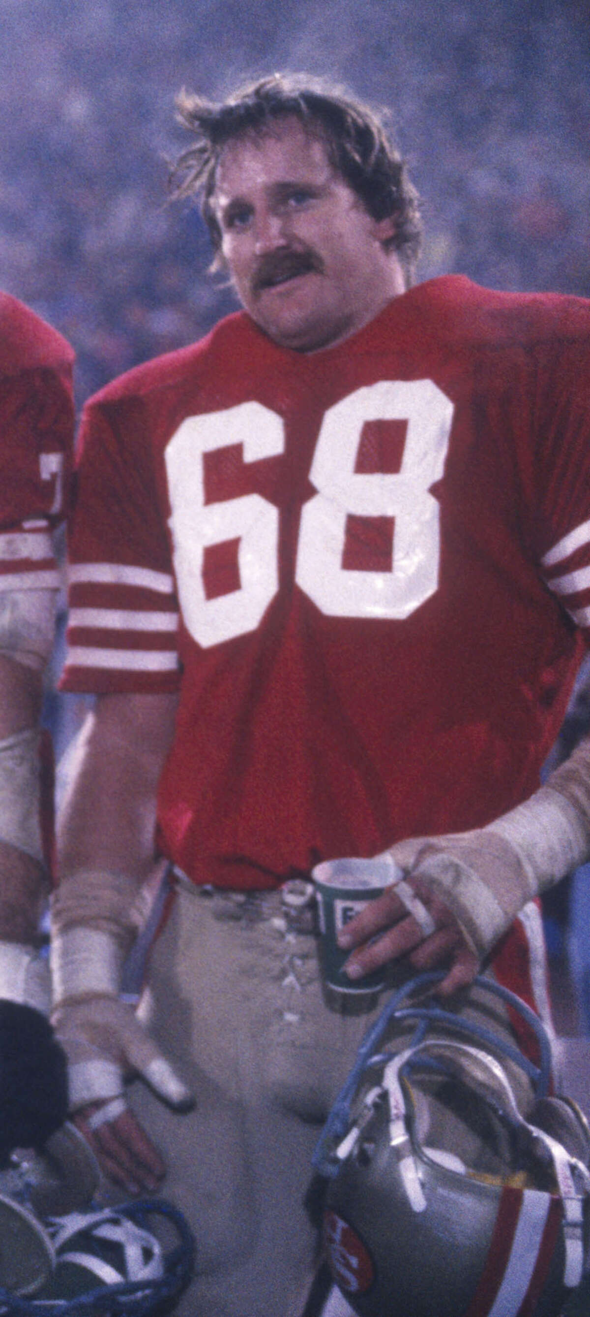 John Ayers, Carrizo Springs High School Ayers, an offensive lineman, won two Super Bowls with the San Francisco 49ers: Super Bowl XVI (1982) against the Cincinnati Bengals, and Super Bowl XIX (1985) against the Miami Dolphins. As a Denver Bronco, he lost Super Bowl XXII (1988) to the Washington Redskins. PHOTO: Ayers poses during Super Bowl XIX against Miami at Stanford Stadium on Jan. 20, 1985, in Stanford, Calif.
