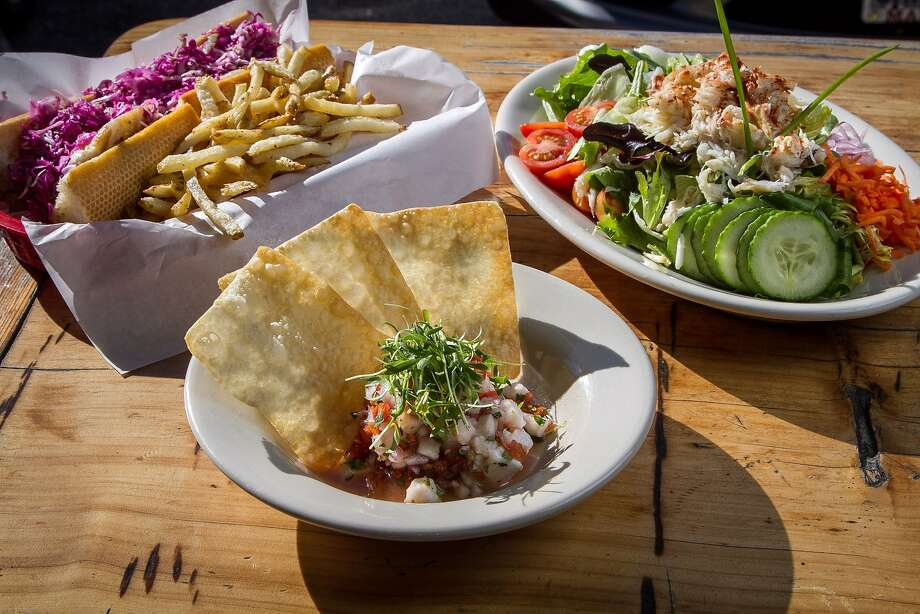 The ceviche, the crab Louis and the fish sandwich are popular meals at the Silver Star. Photo: John Storey, Special To The Chronicle