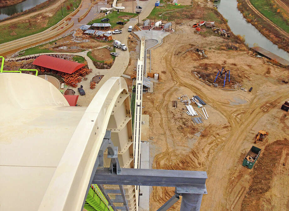 Verruckt, German for insane, is the world's tallest water slide standing a towering 170-feet. The slide, constructed in New Braunfels, will open in 2014 at the Kansas City Schlitterbahn. Photo: Schlitterbahn, Courtesy