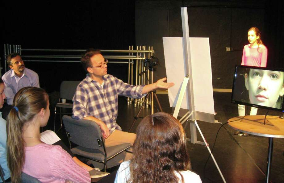 """Professional actors Matthew Porretta, of Darien, and Nick Sadler, of New Canaan, will teach """"Connecting With the Camera"""" at the Darien Arts Center. Photo: Contributed Photo, Contributed / Darien News"""
