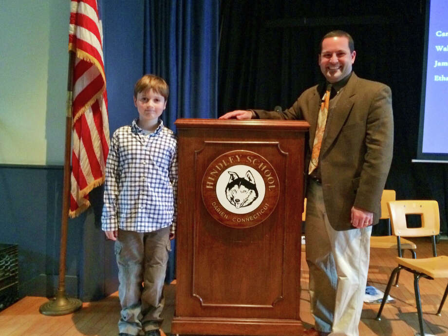 Fin Kehrli, a fifth-grade student at Hindley School, won the school-level competition of the National Geographic Bee Jan. 17. Photo: Contributed Photo, Contributed / Darien News