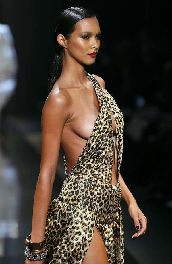 Me Tarzan, you ...A model for the Alexandre Vauthier collection at the Haute Couture Spring-Summer 2014 show in Paris. Photo: Patrick Kovarik, AFP/Getty Images