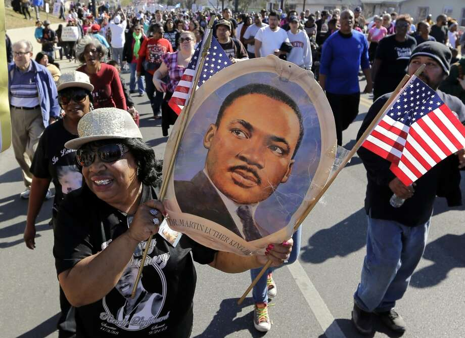 Martin Luther King, Jr. said he had a dream, but I don't think that dream included calling for the president's execution, appropriating the civil rights movement for animals or party promotion, but hey: Murrca! Here's a list of all the inappropriate and just really bad things people said during this national holiday. Photo: Eric Gay, Associated Press