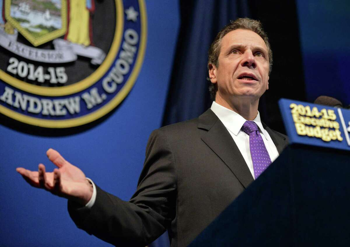 NYS Gov. Andrew Cuomo presents his 2014-2915 State Budget Tuesday Jan. 21, 2014 in Albany, NY. by (John Carl D'Annibale / Times Union)