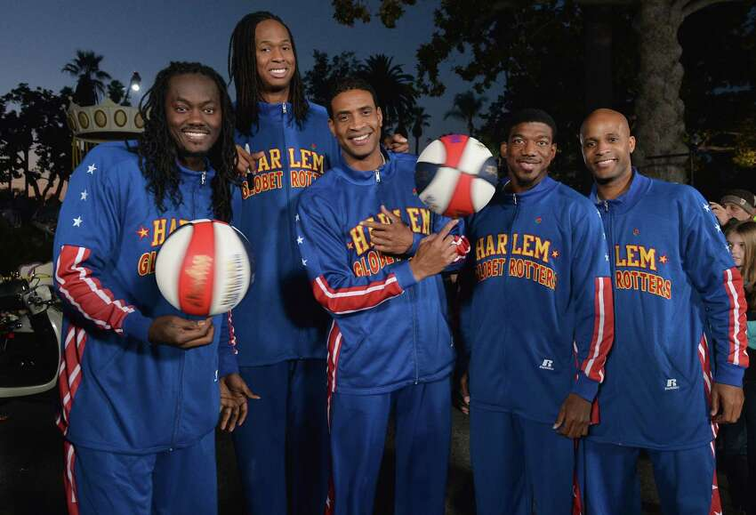 Members of the world-famous Harlem Globetrotters