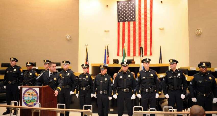 Bridgeport's Sergeant Promotional Ceremony Wednesday Feb. 3, 2010 at City Hall.