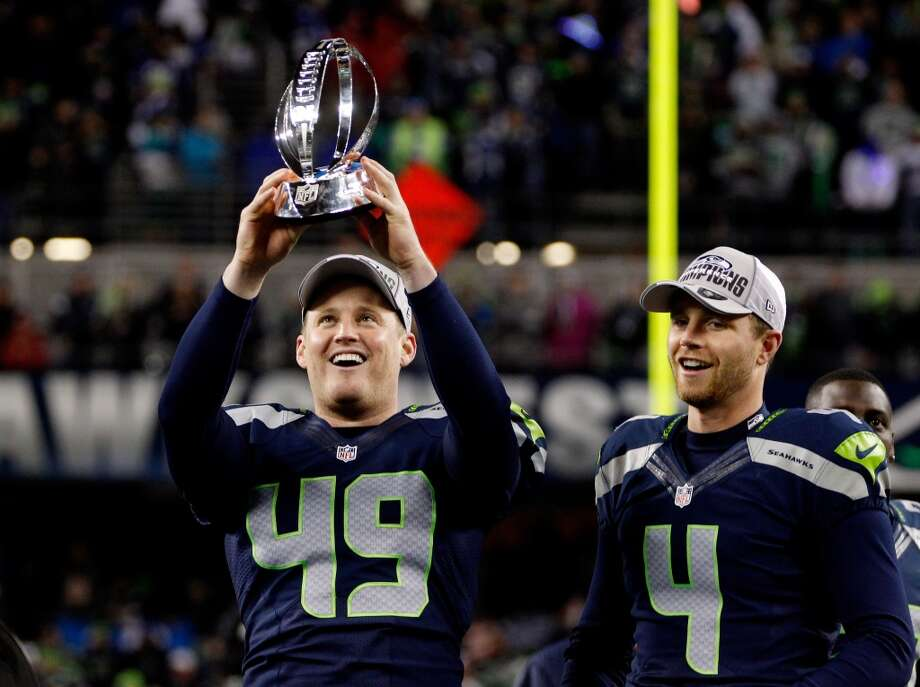 Clint Gresham (49)  Seahawks long snapper  Born in Corpus Christi, Gresham played three seasons at TCU (2007-2009). Photo: Otto Greule Jr., Getty Images