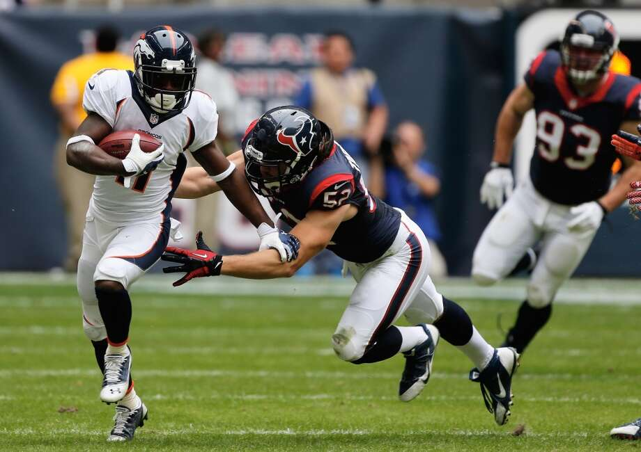 Trindon Holliday  Broncos kick returner/wide receiver  The 5-foot-5 return man played in six games in his three-year run (2010-2012) with the Texans. Photo: Scott-halleran, Getty Images