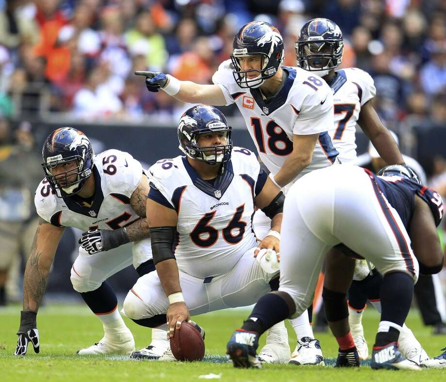 Manny Ramirez (66)  Broncos center  The Willowridge product is in his third season with Denver. Photo: Karen Warren, Houston Chronicle