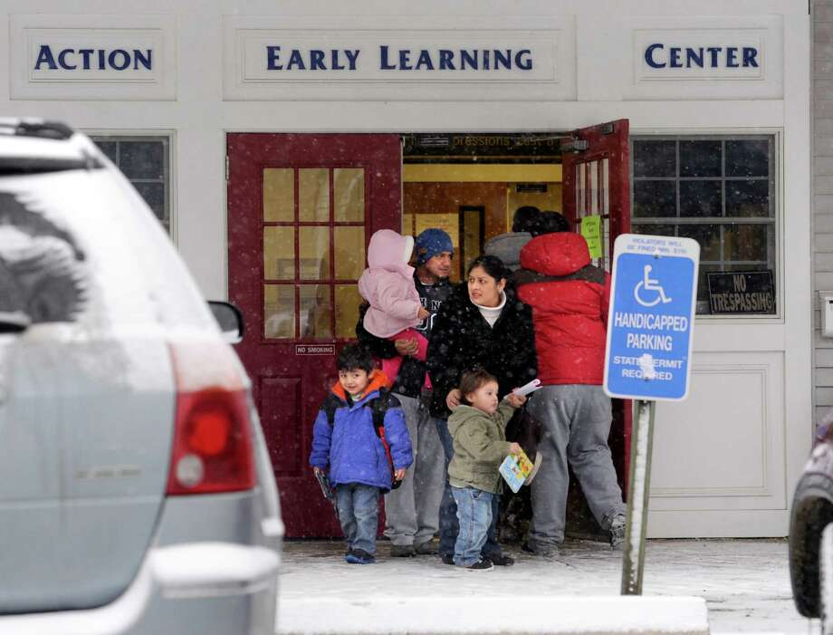 Children are picked up from pre-school at The Action Learning Center on Balmforth Avenue in Danbury, Conn. Tuesday afternoon, January 21, 2014. The school recently lost its acreditation, which means a loss in state funding will result. Photo: Carol Kaliff / The News-Times